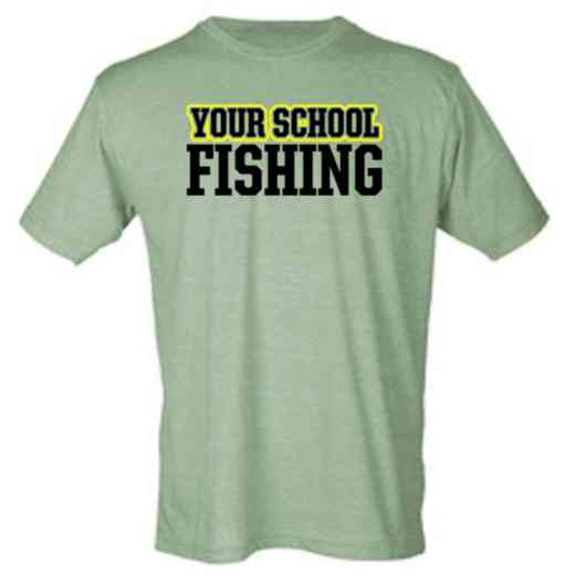 Fishing Mens Heather Blend T-shirt