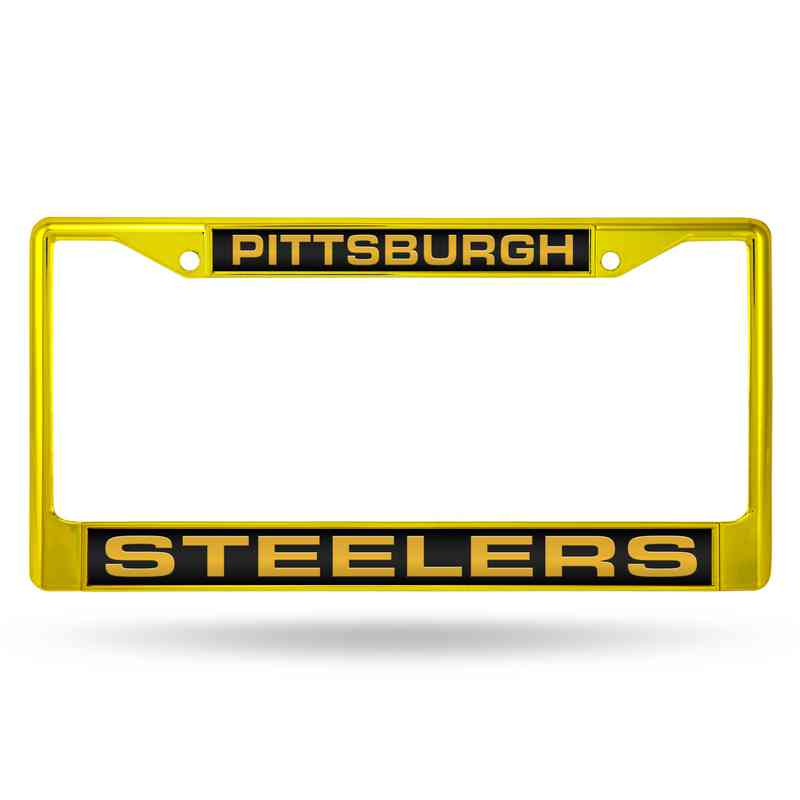 Pittsburgh Steelers Laser Cut Black Chrome Frame