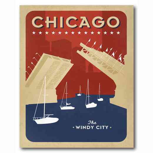 WEB-ST178-16x20: Chicago Waterways , 16x20
