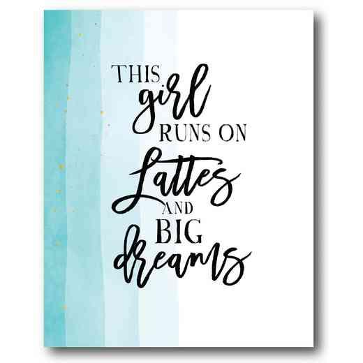 WEB-TS163-16x20: Lattes and Big Dreams , 16x20