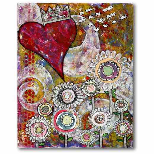 WEB-TS184-16x20: Hearts and Flowers , 16x20
