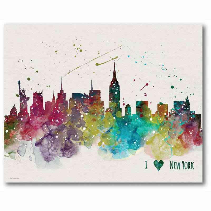 New York City\' 16x20 Canvas Wall Art