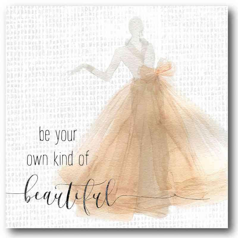 WEB-FD115-16x16: Beautiful with Gold Dress, 16X16
