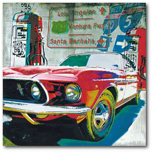 WEB-ID290-16x16: Classic Mustang, 16X16