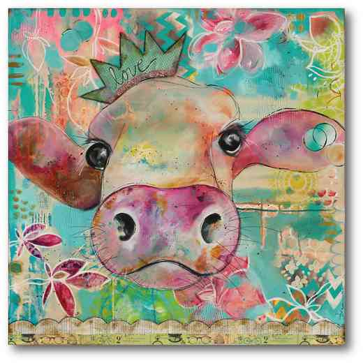 WEB-TS189-16x16: Love Cow , 16x16