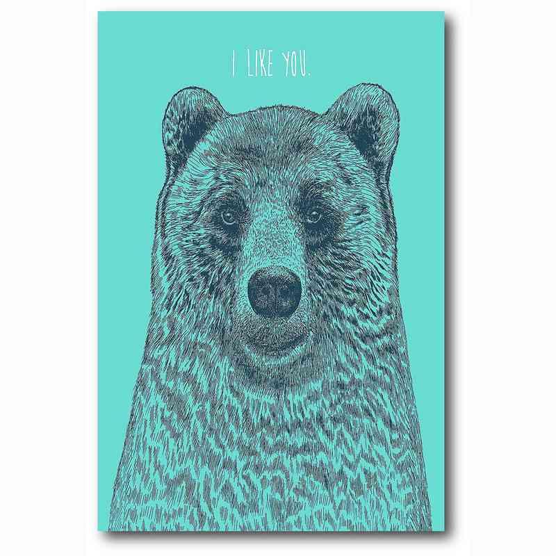 WEB-MV358-12x18:  I Like You Bear , 12x18