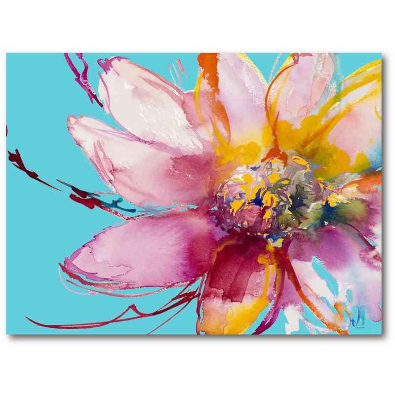Flower song 18 x 24 canvas wall art mightylinksfo