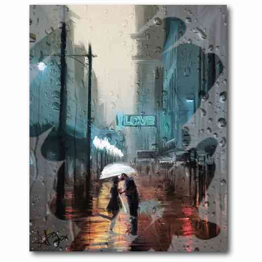 WEB-MV393-18X24: Romance in the Rain III , 18x24