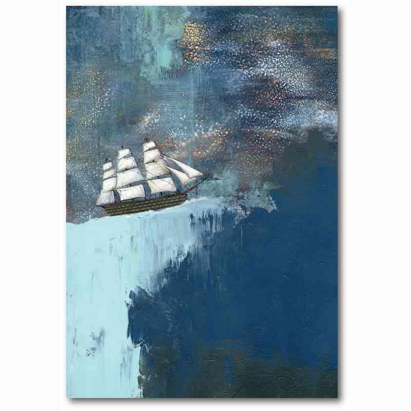 WEB-TS243-18x26: The Dark Blue Ocean , 18x26