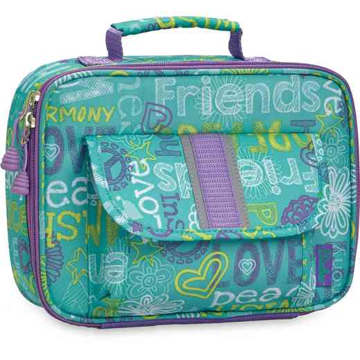 311003: Bixbee Hope Peace Love Lunchbox