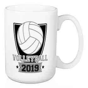 4628-AJ: Personalized Mug - Volleyball
