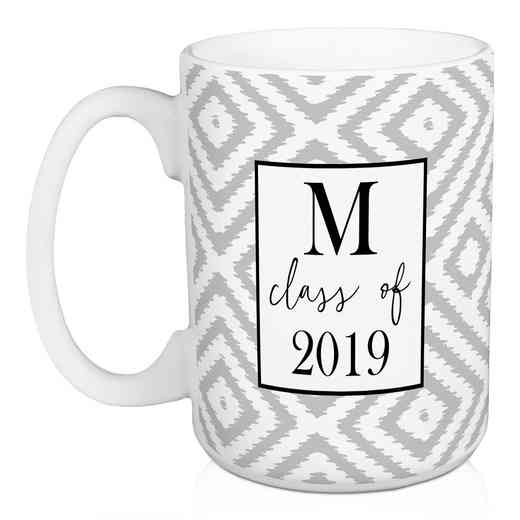 Personalized Mug -1 intial - Class of: Unisex