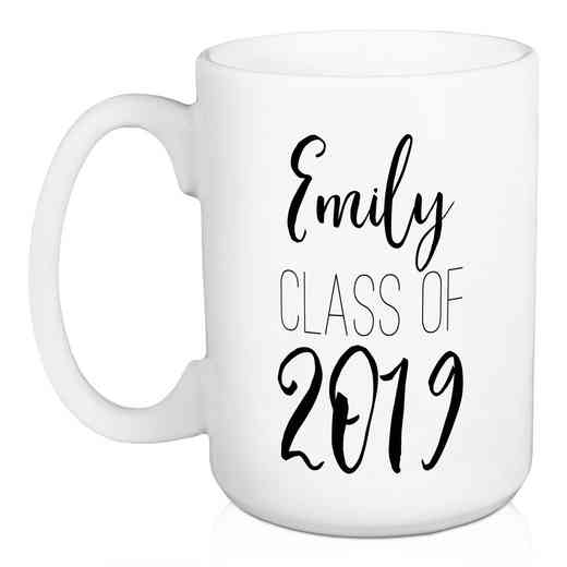 Personalized Mug -name - Class of: Unisex