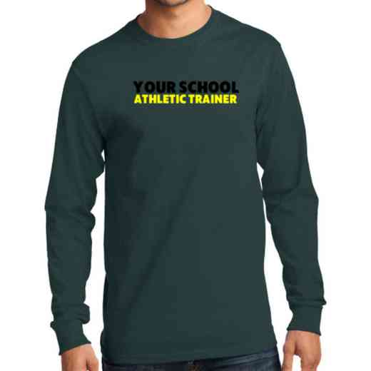 Men's Athletic Trainer Classic Heavy Cotton Long Sleeve T-Shirt