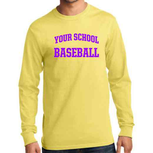 Men's Baseball Classic Heavy Cotton Long Sleeve T-Shirt