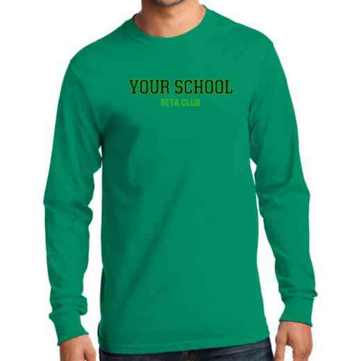Men's Beta Club Classic Heavy Cotton Long Sleeve T-Shirt