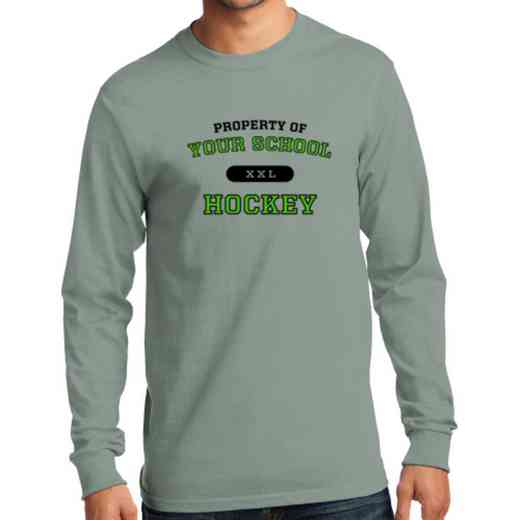 Men's Hockey Classic Heavy Cotton Long Sleeve T-Shirt