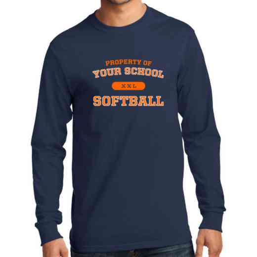 Men's Softball Classic Heavy Cotton Long Sleeve T-Shirt