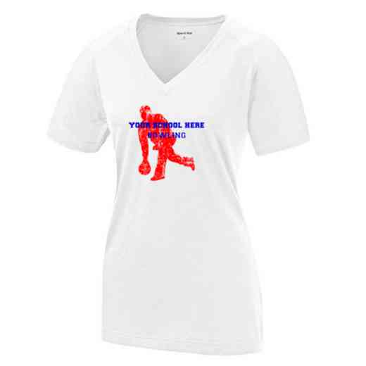 Bowling Womens Ultimate Performance V-Neck T-shirt