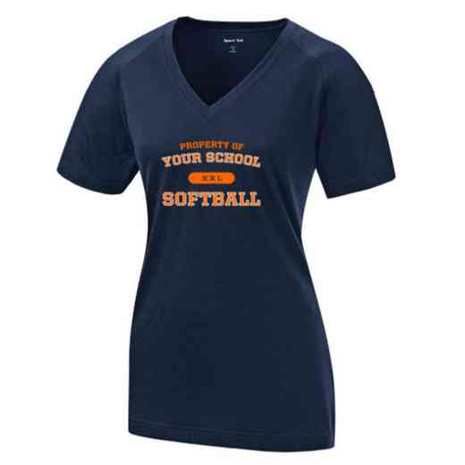 Softball Womens Ultimate Performance V-Neck T-shirt