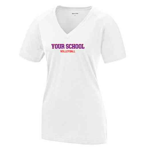 Volleyball  Womens Ultimate Performance V-Neck T-shirt