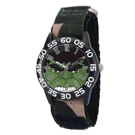 W003251: Plastic Marvel Boys Hulk Black Watch Camo Nyl Strap