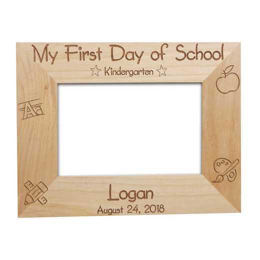 929441: First Day of School Wood Fram Alder 4x6