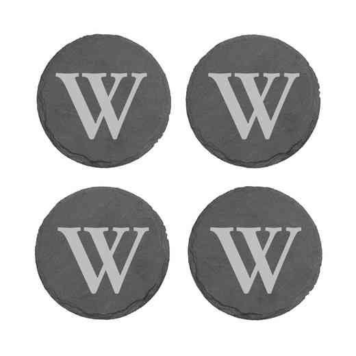 L10279153: One Initial Slate Round Coasters- s/4