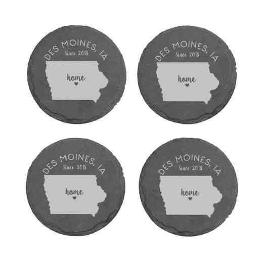 L11062153IAPGS: Home State-PGS Slate Rnd Csters- S/4-IA
