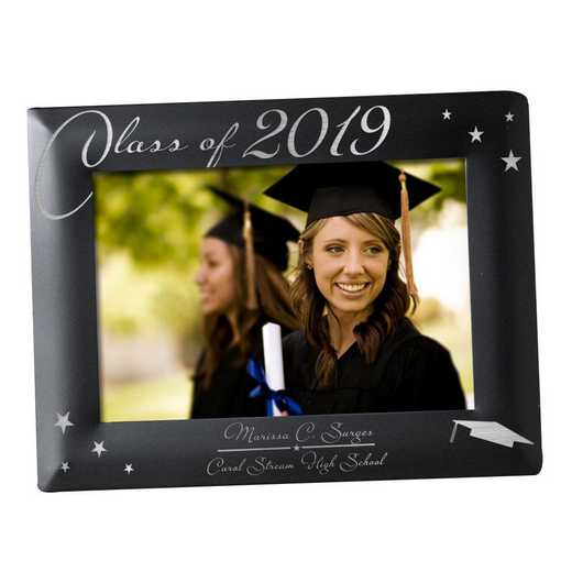 L5887182: PGS Engraved Black Graduation Picture Frame, 5x7