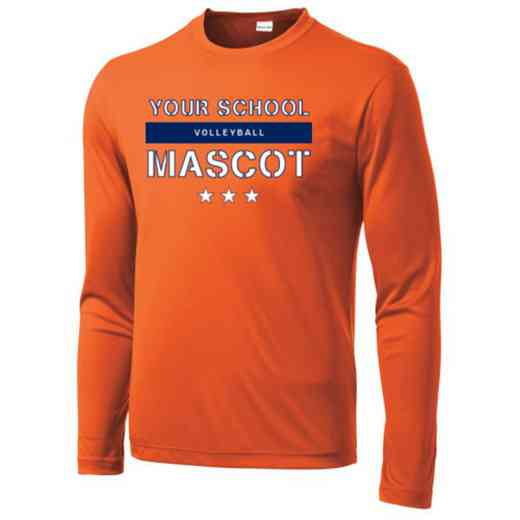 Volleyball Long Sleeve Competitor T-shirt
