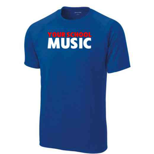Men's Music Performance Athletic T-Shirt