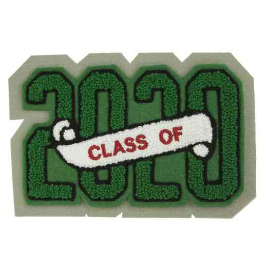LJ1002CS: 4 Digit Block - Chenille Sash - Class Of