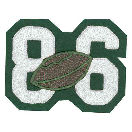 LJ7008FB: 2 Digit Jersey Number - Chenille with Symbol - Sport Touch - Football