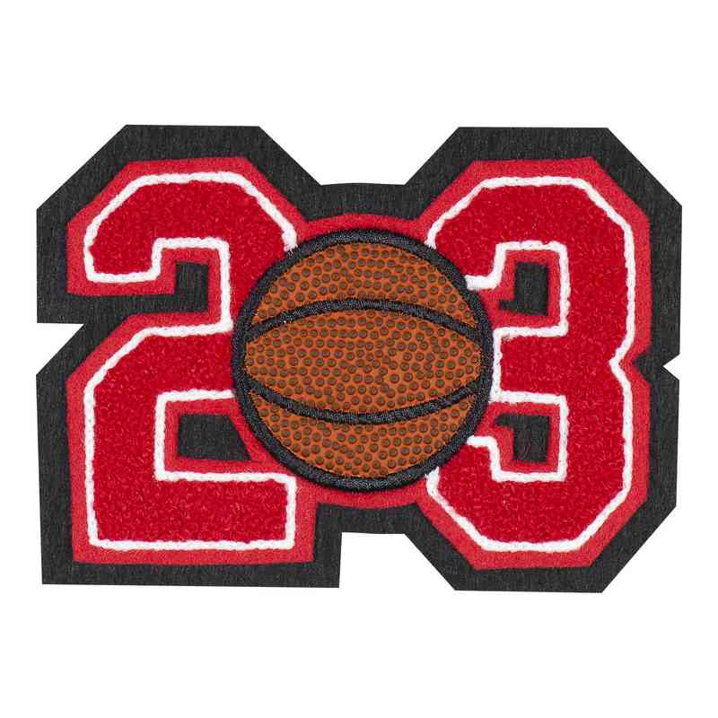 LJ7008BK: 2 Digit Jersey Number - Chenille with Symbol - Sport Touch - Basketball