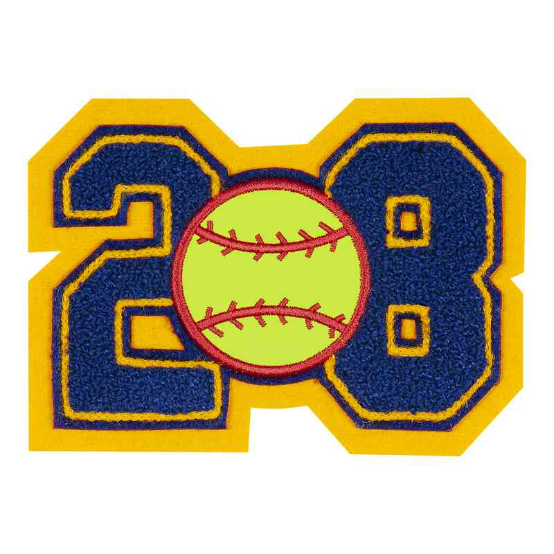 LJ7008SB: 2 Digit Jersey Number - Chenille with Symbol - Sport Touch - Softball