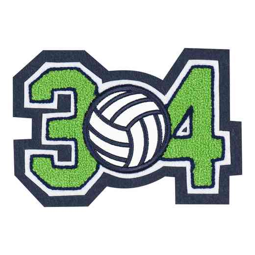 LJ7008VB: 2 Digit Jersey Number - Chenille with Symbol - Sport Touch - Volleyball