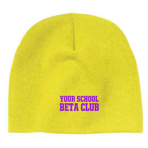 Beta Club Embroidered Knit Beanie Cap