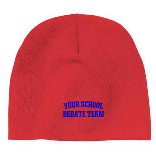 Debate Team Embroidered Knit Beanie Cap