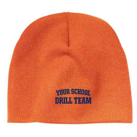 Drill Team Embroidered Knit Beanie Cap