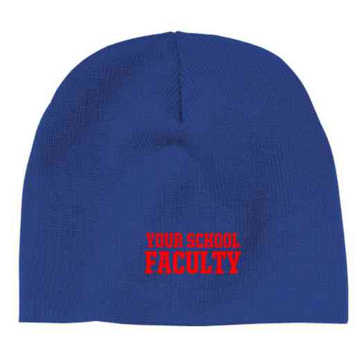 Faculty Embroidered Knit Beanie Cap