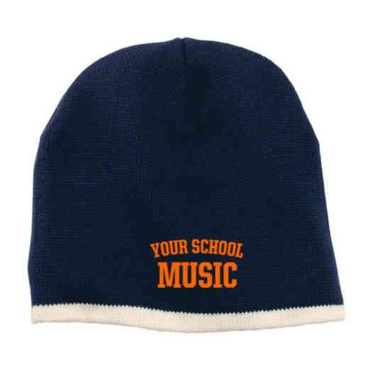 Music Embroidered Knit Beanie Cap