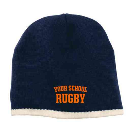 Rugby Embroidered Knit Beanie Cap