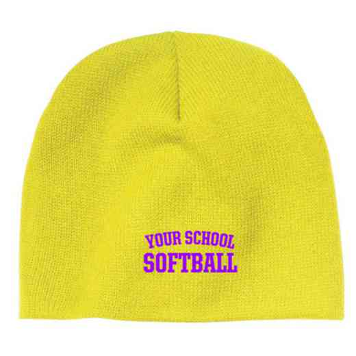 Softball Embroidered Knit Beanie Cap