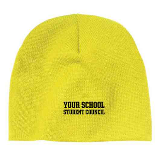 Student Council Embroidered Knit Beanie Cap