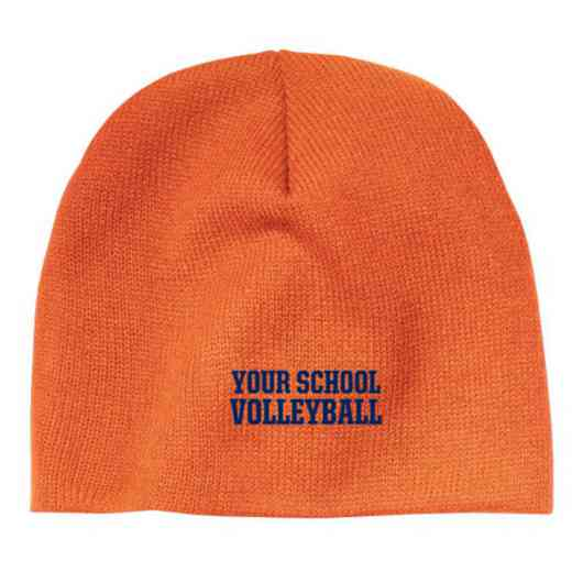Volleyball  Embroidered Knit Beanie Cap