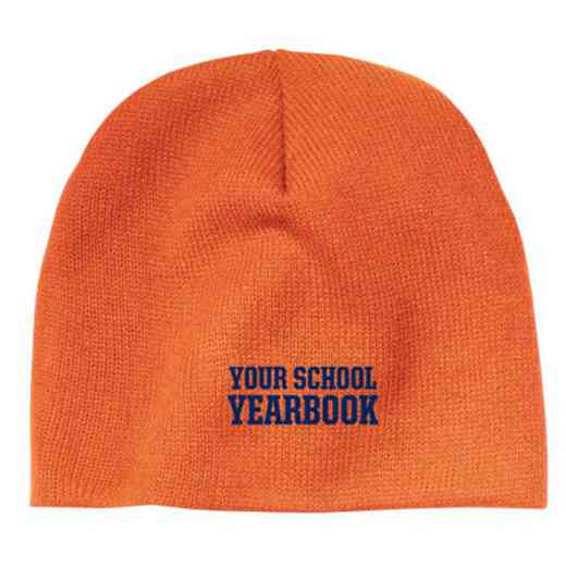 Yearbook Embroidered Knit Beanie Cap