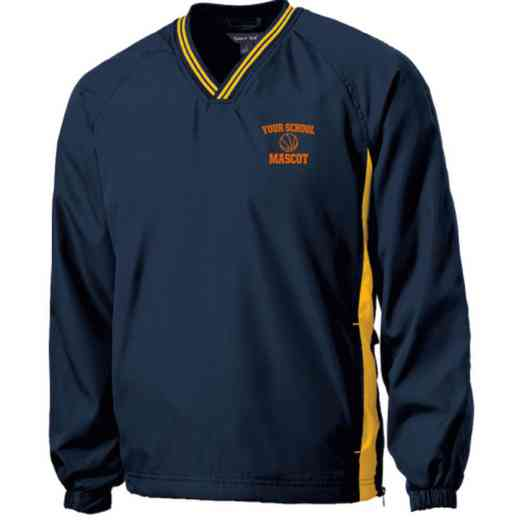 Youth Basketball Embroidered V-Neck Contrast Windbreaker