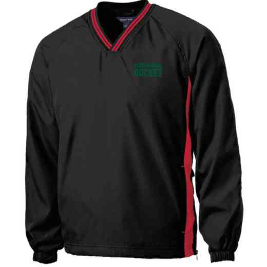 Youth Hockey Embroidered V-Neck Contrast Windbreaker