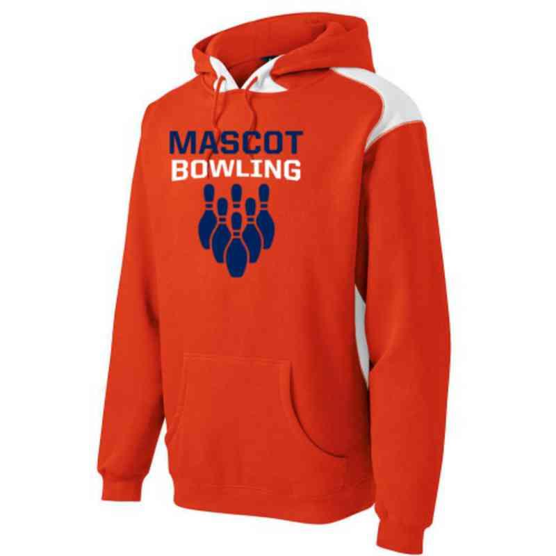 Bowling Sport-Tek Contrast Hooded Sweatshirt